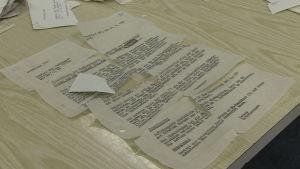 Förstörda Statsidokument rekonstueras