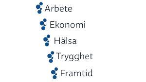 Yle har plockat ut fem fokusområden inför valet 2015.