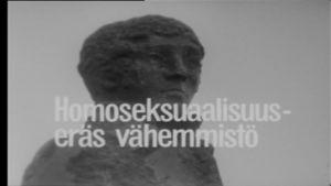 Svart-vit bild ur programmet Homosexualitet, en mionoritet, år 1975