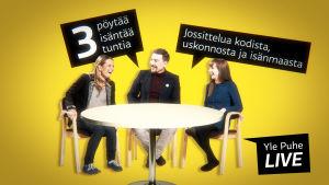Suuri Jossitteluilta Yle Puheella 9.5.2015 klo 19-22.