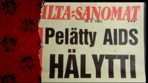urklipp i Iltasanomat 1983 om aids