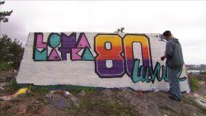 Lomamatka 80-luvulle graffiti