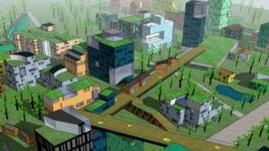 En virtuell stadsmiljö