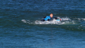 Surfaren Mick Fanning under hajattacken