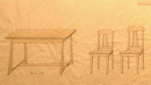Möbelritning av Aino Sibelius