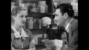 Förälskat par i gammal stumfilm