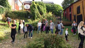 Familjebloggare besöker gamla stan i Borgå.