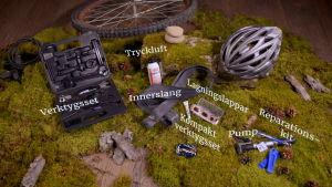 Olika saker att reparera cykel med