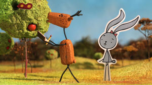 animaatio hahmot jänis ja kauris