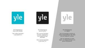 Färgversioner av Yle-logotypen