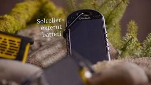 Externt batteri med solceller