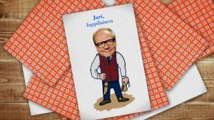Kuva pelikortista, jossa Jari Tervo.