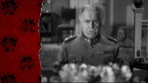 Bister major vid matbordet, ur gammal finsk film