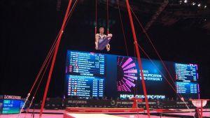 Oskar Kirmes på ringar i VM i Glasgow 2015