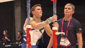 Oskar Kirmes och Mati Kirmes under VM i Glasgow 2015