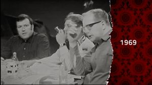 rökande män i månstudion 1969