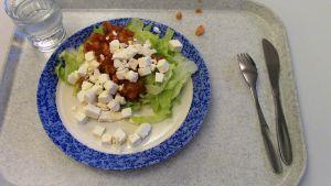 Kouluruokana salaattia