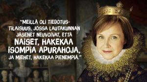 Virpi Hämeen-Anttila kertoi, että lautakunta neuvoi naisia kirjastoapurahan haussa.