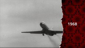 Flygplan på 60-talet i svartvitt