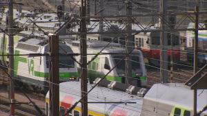 Junaliikennettä Pasilan asemalla