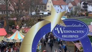 Julmarknad i Himmelstadt i Tyskland