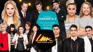 Uuden Musiikin Kilpailu 2016 Karsinta 3:n esiintyjät