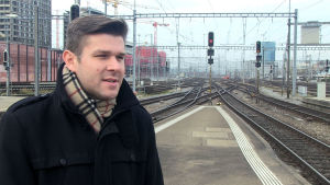 Oli Dischoe presstalesman vid SBB i Zürich.