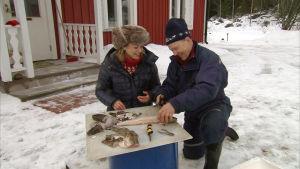 Fiskaren Ove Nysund och Elin