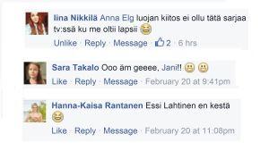 Facebook kommentointia