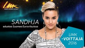 Sandhja on Uuden Musiikin Kilpailun voittaja 2016