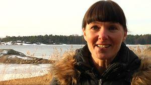 Turistchf Marika Pulliainen i Hangö.