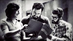 Steven Spielberg, John Milius ja George Lucas. Kuva dokumenttielokuvasta Milius (2013).