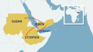 karta över afrikas horn