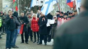 Latvian venäläiset tukevat Krimin miehitystä 2014