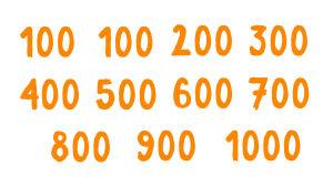 Numerot 100-1000