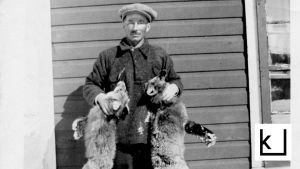 Amerikansuomalainen ketunmetsästäjä n. 1920