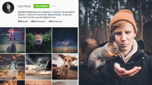 Konsta Punkka on seuratuin suomalainen Instagramissa