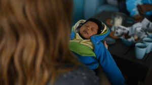 familjen walkers nyua bebi celine sover