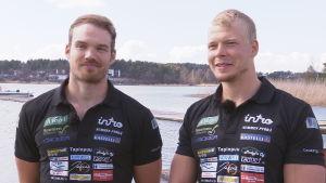 roddarna Joel Naukkarinen och Antti Kilpeläinen
