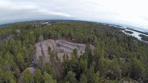 Motocrossbana på Porkala udd.