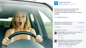 Sexistisk bilskolereklam inför mors dag 2016
