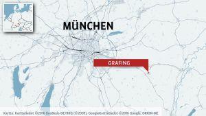 Staden Grafing nära München