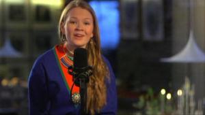 Marja skriver dikter på sydsamiska som är hennes hjärtespråk.