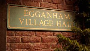 Egganhamin kylätalon kyltti