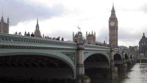 Westminster Bridge ja Big Ben.