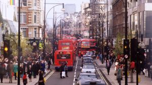 Kaupunkinäkymä Lontoosta.