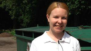 Malin Kurkisuo är miljöutbildare vid avfallshanteringsboalget Rosk´n Roll.
