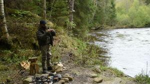seval förbereder fiske