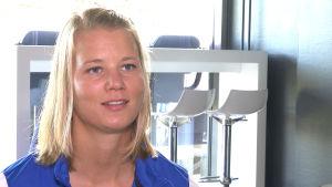 Maija Saari, kapten i damlandslaget i fotboll, Hfors i september 2016