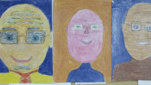 Lasten piirroksia Kekkosesta